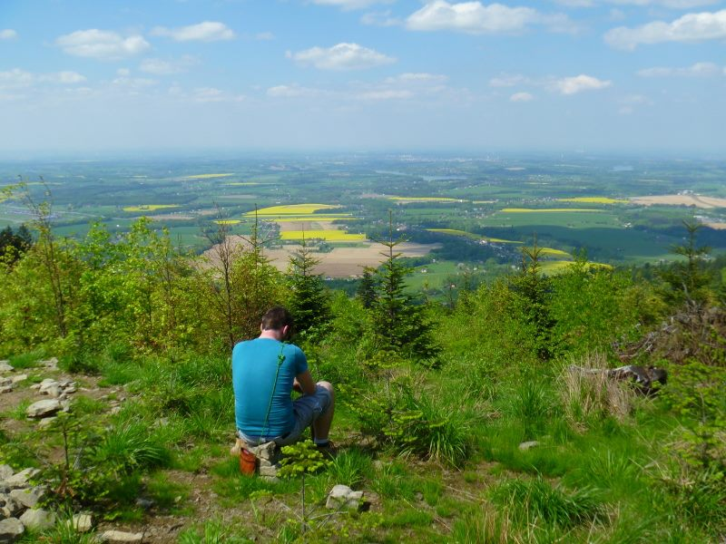 Thilo is praying on a mountain near Havirov.