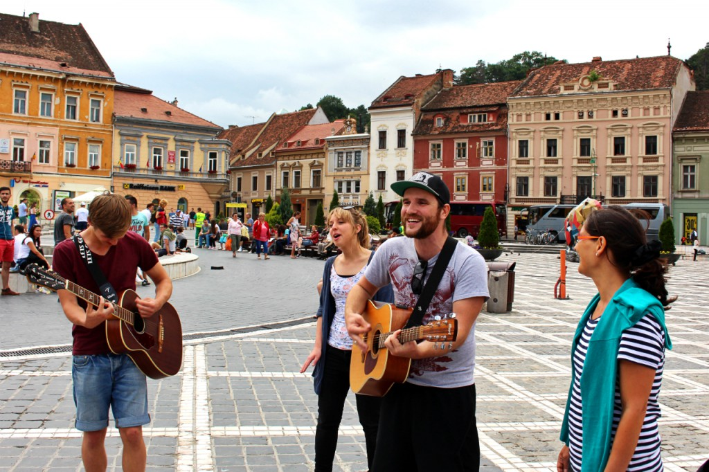 Worshiping in Brasov