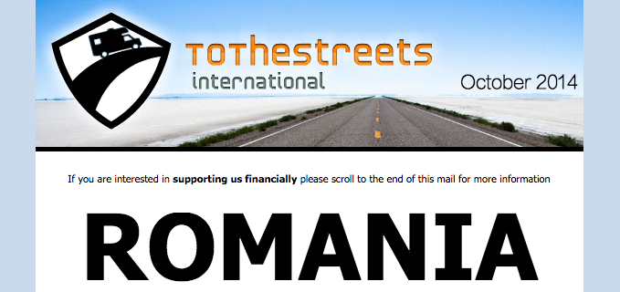 Newsletter October 2014 - ToTheStreets International