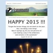 HAPPY 2015 !!! Newsletter January 2015 // ToTheStreets Int.